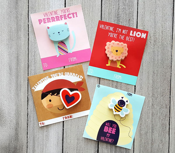 Valentine's Day Eraser Cards