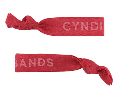Cyndibands Coral Logo Hair Ties
