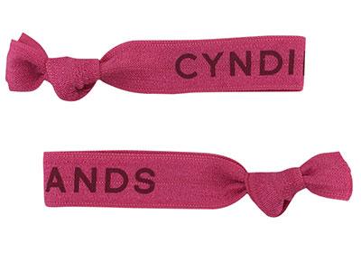 Cyndibands Custom Print Fuchsia Hair Ties