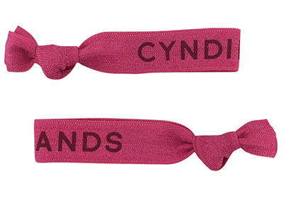 Cyndibands Custom Print Fuchsia Hair Ties