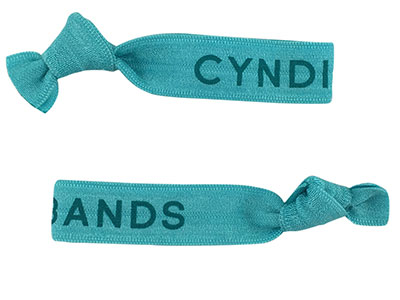 Cyndibands Turquoise Logo Hair Ties