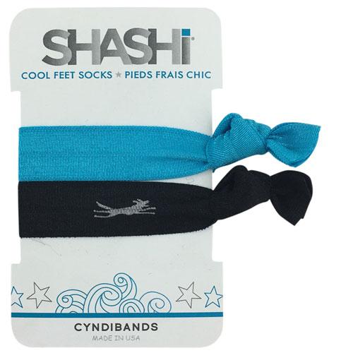 Shashi 2 Pack Silver Print Hair Tie